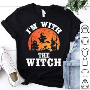 I'm With The Witch Funny Halloween Party Costume shirt