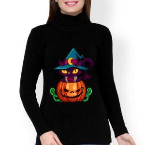 Kitten In A Pumpkin - Halloween Jack-o-lantern Cat shirt