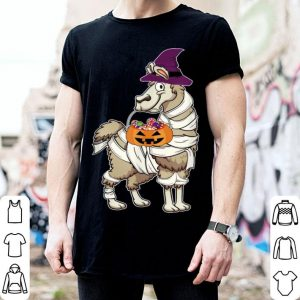 Llama Mummy Hat Witch Pumpkin Halloween Funny shirt