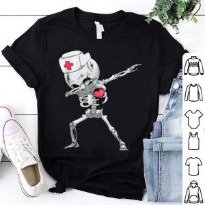 Nice Dabbing Skeleton Nurse X-ray Halloween Dab Gifts Tee shirt