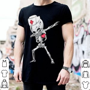 Nice Dabbing Skeleton Nurse X-ray Halloween Dab Gifts Tee shirt