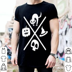 Nice Halloween Black Cat Witch Skeleton Pumpkin X Design Gift B07vzz shirt