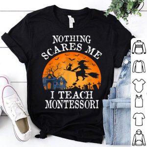 Nothing Scares Me I Teach Montessori Teacher Halloween Gift shirt