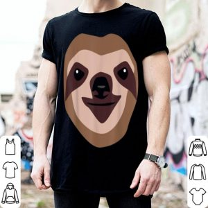 Official Sloth Face Funny Cute Animal Halloween Costume Gift shirt
