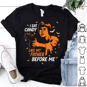 Official Star Wars Luke Skywalker I Eat Candy Funny Halloween shirt