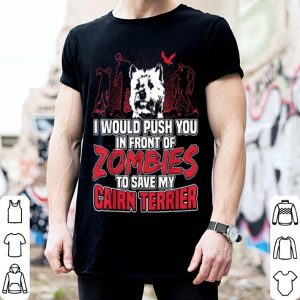Original Cairn Terrier and Zombies Halloween funny gifts shirt