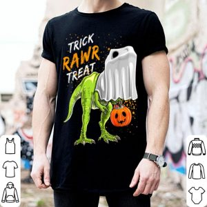 Original Trick Rawr Treat Halloween T Rex Dinosaur Ghost Boys shirt