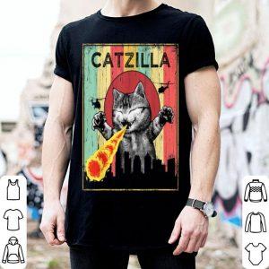 Original Vintage Catzilla Cat Laser Eye Halloween Costume shirt