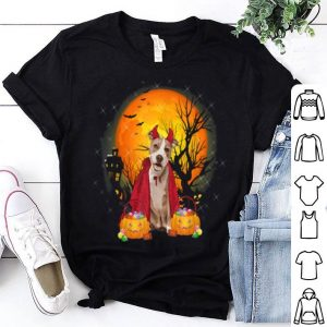 Pitbull Dog With Candy Pumpkin Halloween shirt