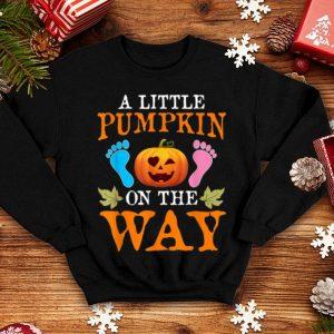 Pregnancy Announcement Pumpkin Halloween Party Costume Gift shirt
