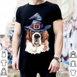 Saint Bernard Witch Hat Dog Lovers Halloween shirt