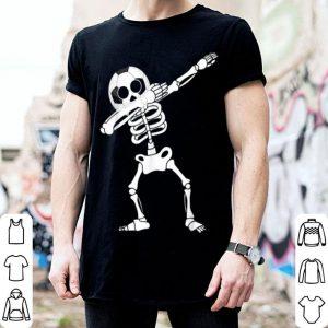 Soccer Skeleton Dabbing Boy Halloween Funny Dab Kids shirt