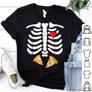 Top Halloween Skeleton Junk Food Belly Pizza shirt