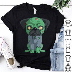 Zombie Pug Funny Dog Halloween shirt