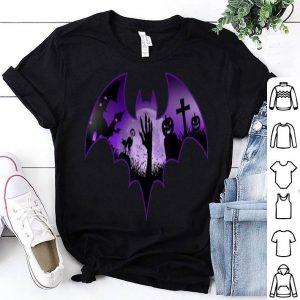 Awesome Halloween Men Scary Bat Zombie Hand Cemetery Pumpkin shirt