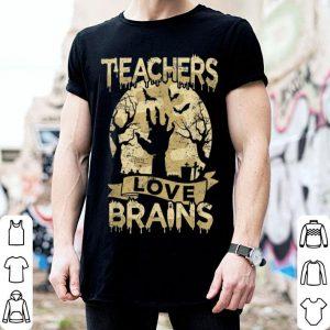 Awesome Teachers Halloween Party Teachers Love Brains shirt