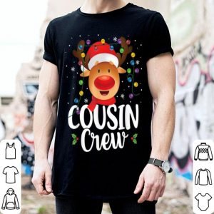 Beautiful Christmas Cousin Crew Reindeer Santa Hat Matching Pajama shirt