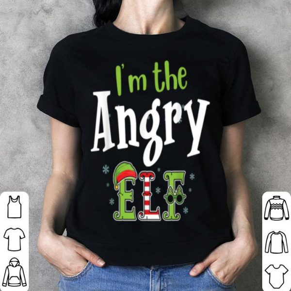 Beautiful I'm The Angry Elf Matching Elf Family Pajama Christmas Gift shirt