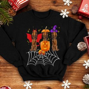 Beautiful Three Dachshund Dogs Halloween Halloween Dog Clothes shirt