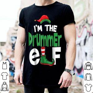 Funny I'm The Drummer Elf Christmas Family Matching PJ shirt
