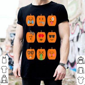 Funny Pumpkin Emoji Funny Halloween Group Costume shirt