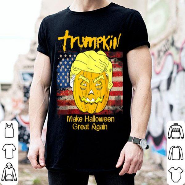 Funny Trumpkin Trump Funny Halloween US Vintage Flag MAGA Gift shirt