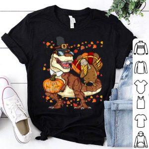 Hot Dabbing Thanksgiving Trex Turkey shirt