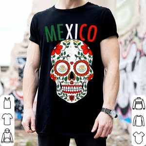 Hot Halloween Mexico Sugar Skull Mexican Cinco Christmas shirt