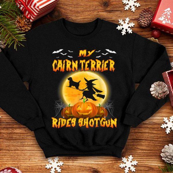 Hot My Cairn Terrier Shotgun Halloween Funny shirt