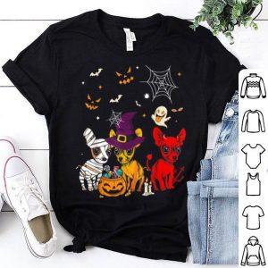 Hot Three Chihuahuas Funny Halloween Gift For Women shirt
