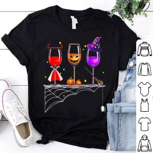 Hot Wine Glass Of Witchcraft Halloween Funny shirt