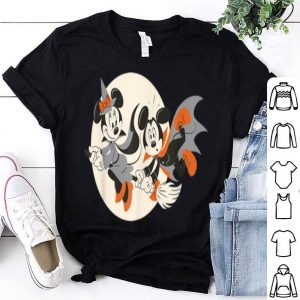 Nice Disney Halloween Mickey and Minnie Flying shirt