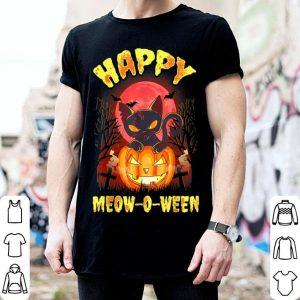 Nice Halloween Cat Zombie Jack O Lantern Happy Meow-O-Ween Kitten shirt