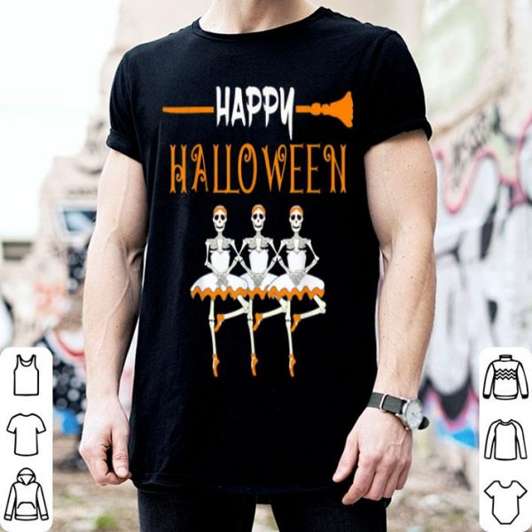 Nice Happy Halloween Skeleton Ballerina - Dancing Ballet shirt