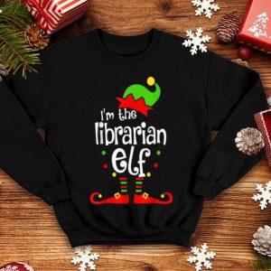 Nice Librarian Elf Christmas Costume Mom Dad Xmas shirt