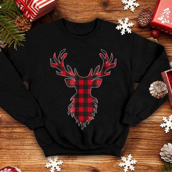 Nice Red Plaid Deer Reindeer Buffalo Matching Family shirt