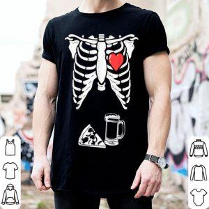 Nice Skeleton Pregnancy Pizza Beer Xray Halloween Soon Dad shirt
