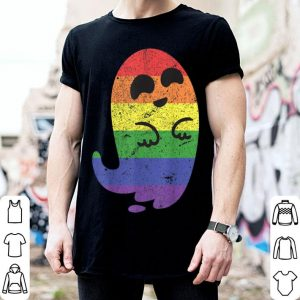 Official LGBT Ghost Halloween Costume Lesbian Gay Funny Scary shirt