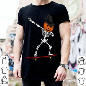 Official Skeleton DAB on Skateboard Halloween Gift idea for Pumpkin shirt