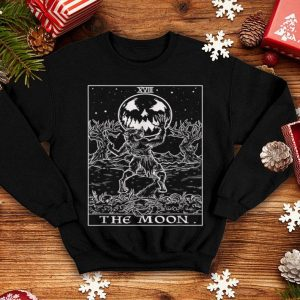Original The Moon Tarot Card Halloween Werewolf Pagan Witch Clothing shirt