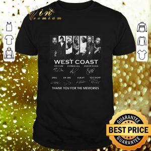 Original West Coast signatures thank you for the memories shirt