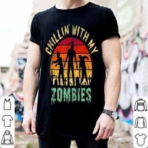 Premium Chillin' With My Zombies Funny Halloween shirt