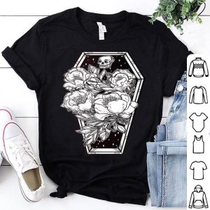 Premium Floral Spooky Halloween - Grave and Roses Occult Tee shirt