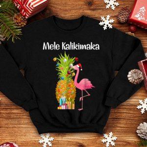 Premium Mele Kalikimaka Pineapple Flamingo Halloween Gift shirt