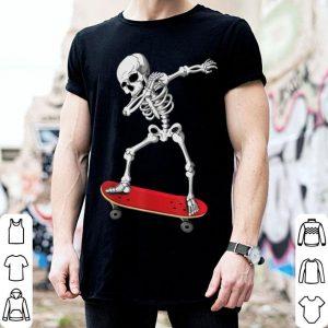 Top Dabbing Skate Skeleton Skateboard Clothes Skater Boy Kid Men shirt