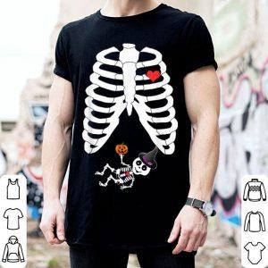 Top Halloween Skeleton Pregnancy Heart Baby Girl X-Ray shirt