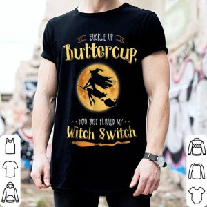 Top Witch Buckle Up Buttercup Mom Halloween Witches shirt