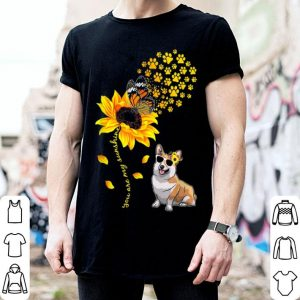 Top You Are My Sunshine Sunflower Corgi for men woman shirt