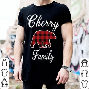 Awesome CHERRY Family Bear Red Plaid Christmas Pajama Men Women Gift shirt