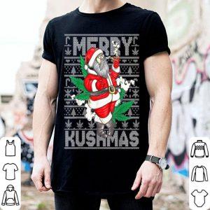 Awesome Marijuana Santa Merry Kushmas Cannabis Christmas Weed Gift shirt